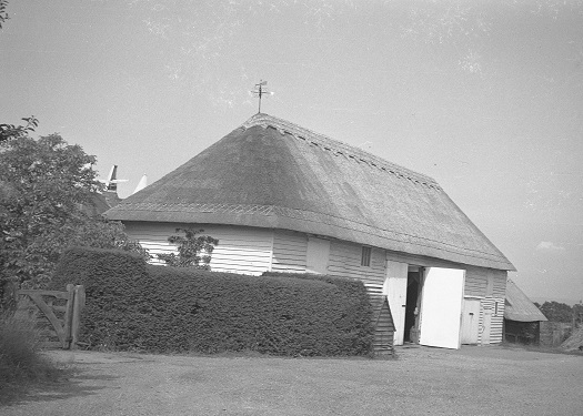 The white barn at Great Dixter pictured in 1934