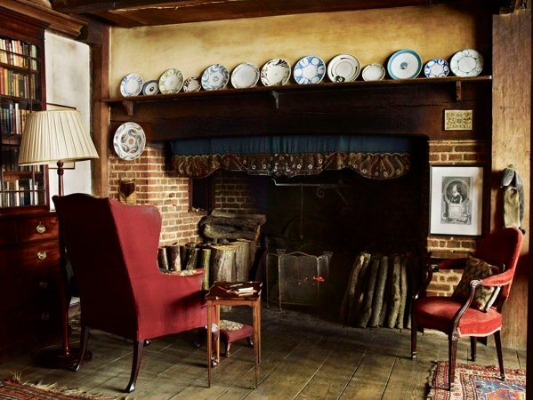 The fireplace in the parlour at Great Dixter by Andrew Montgomery