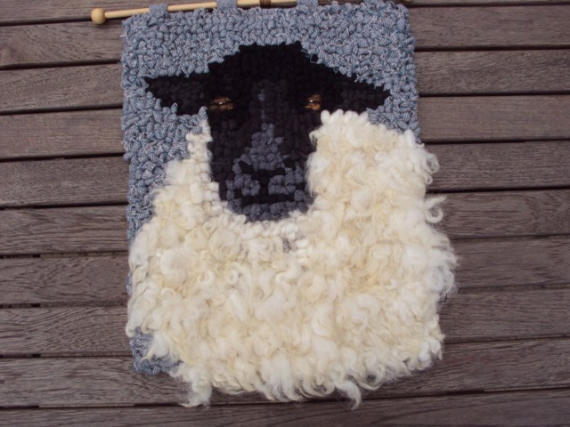 some knitted products made by a wool spinner